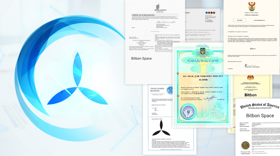 Registration of Trademarks and Patents of the Bitbon System