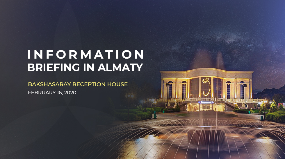 Informationsbriefing in Almaty