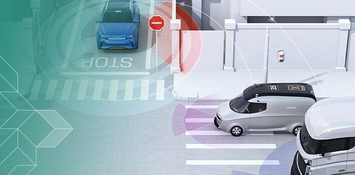 Když spolu budou vozidla kvalitně komunikovat, můžeme snadněji předcházet dopravním nehodám – třeba na křižovatkách.