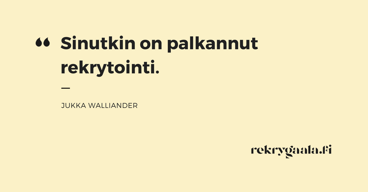 Walliander quote