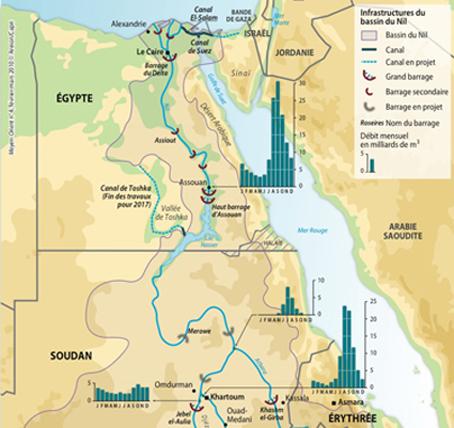 Carte Afrique Nil.Egypte Le Defi Du Nil Slate Afrique
