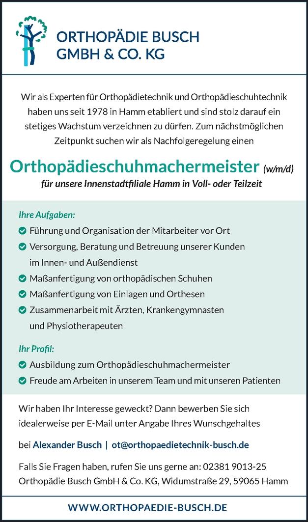 Orthopädieschuhmachermeister/in