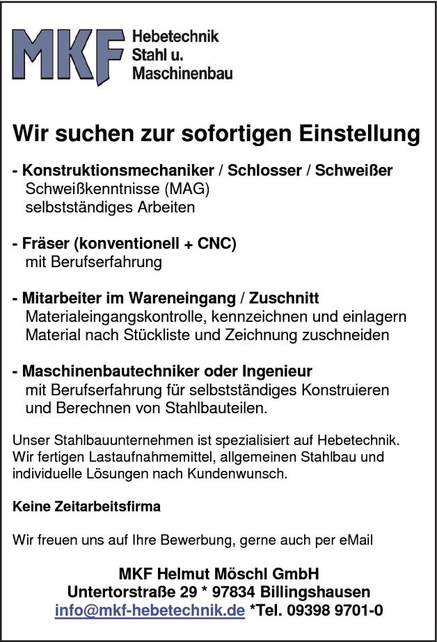 Konstruktionsmechaniker/in