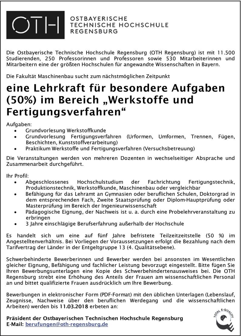 Ingenieur/in Fertigungstechnik in Regensburg
