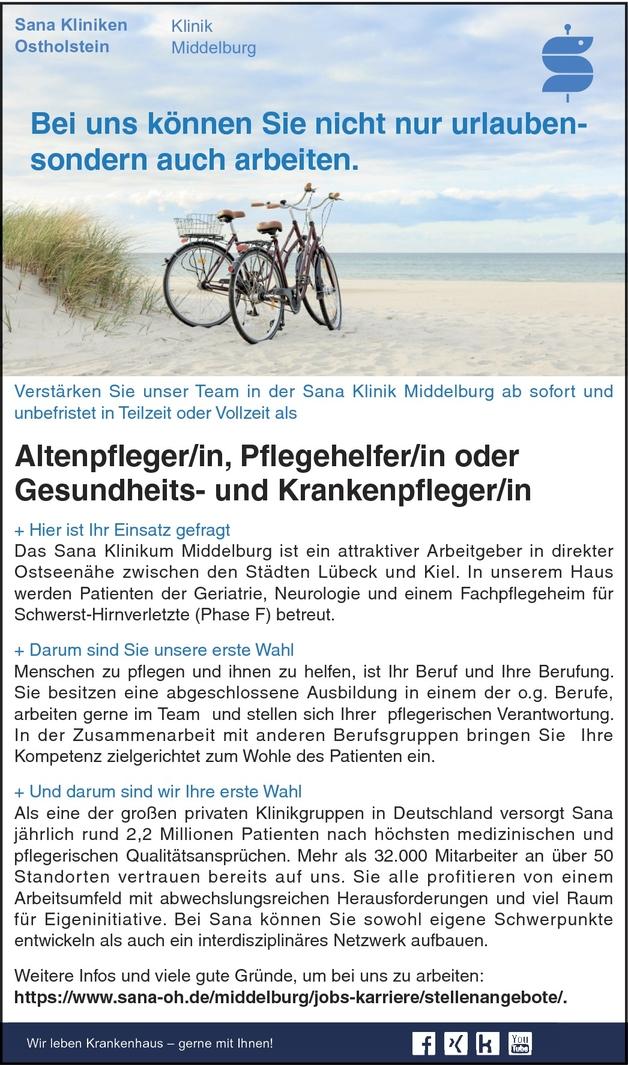Altenpfleger/in In Schleswig Holstein Bei Sana Klinikum In Middelburg  (103680753)