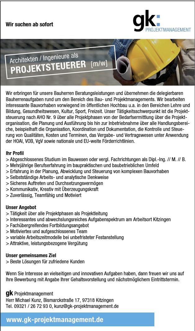 Projektsteuerer/-steuerin