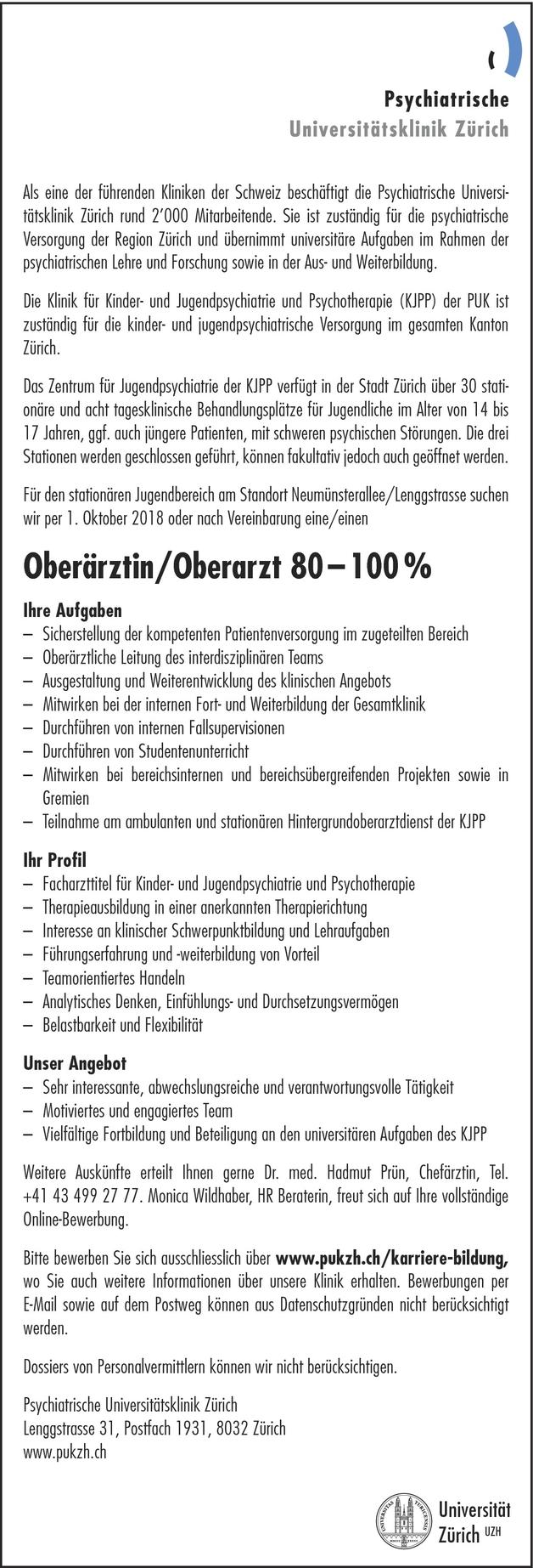 Oberarzt/-ärztin