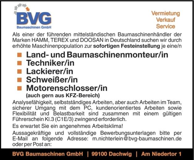 Motorenschlosser/in - Landwirtschaft