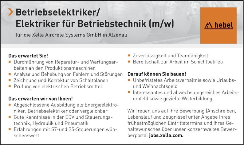 Betriebselektriker (m/w)