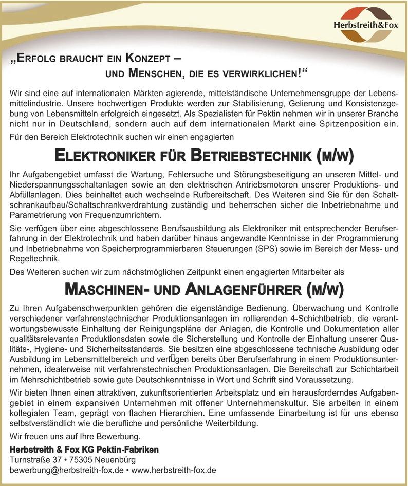 Elektroniker/in Betriebstechnik