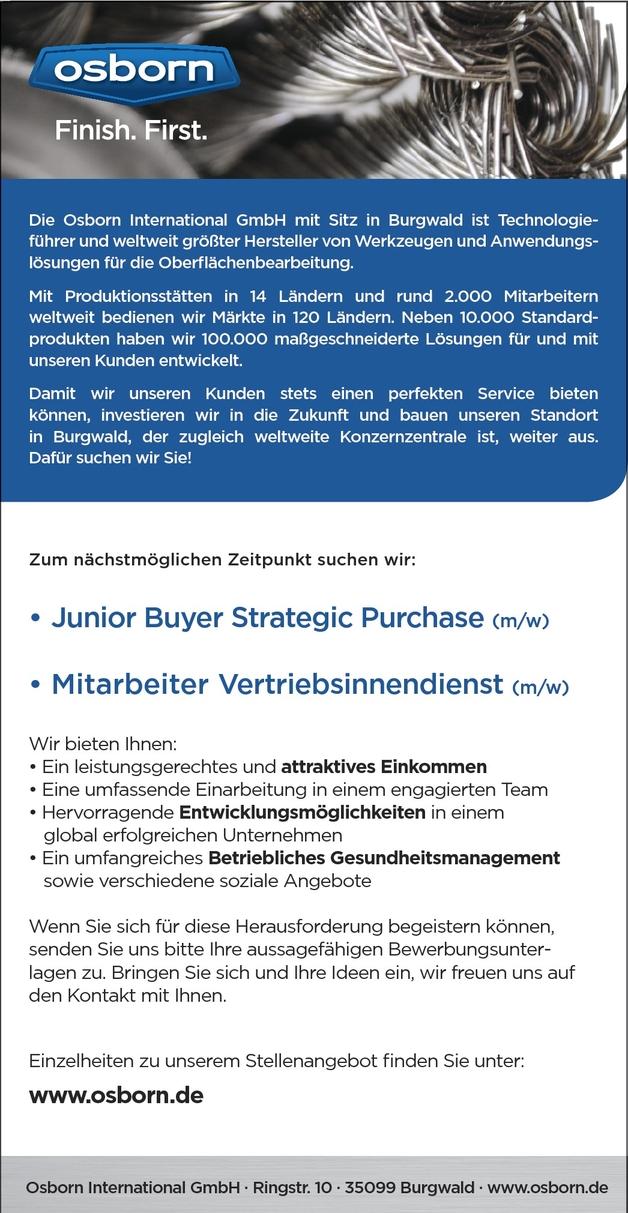 Junior Buyer Strategic Purchase (m/w)