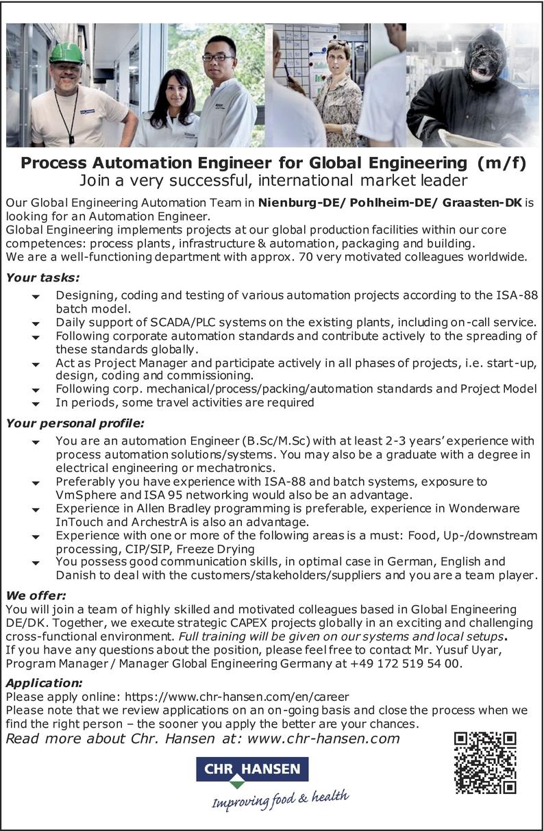 Techniker/in Automatisierungstechnik in Nienburg