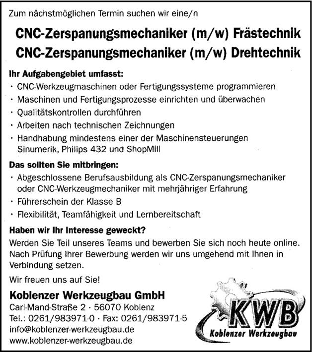 CNC-Fachkraft
