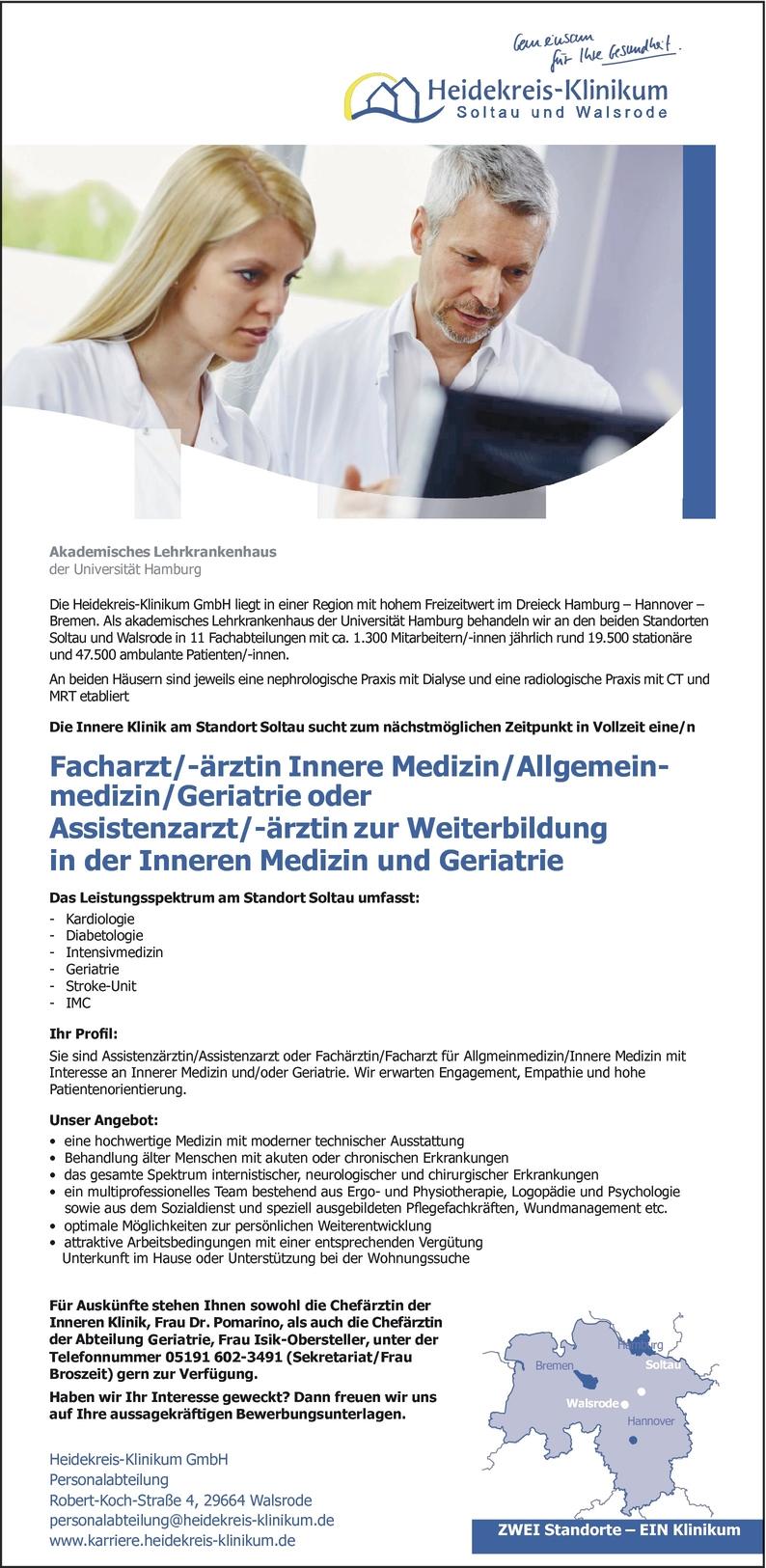 Facharzt/-ärztin Innere Medizin in Walsrode