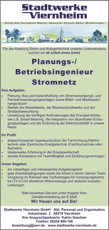 Ingenieur/in Elektrotechnik (Energietechnik)
