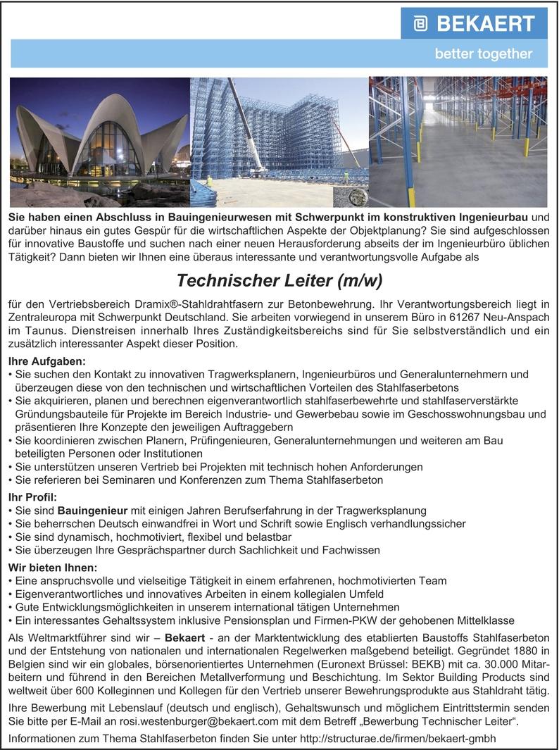 Technische/r Leiter/in