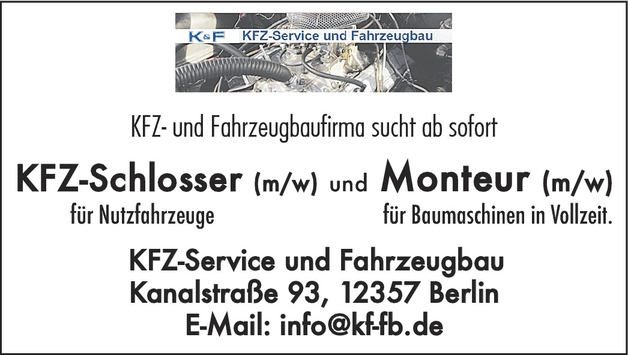 Kfz-Schlosser/in