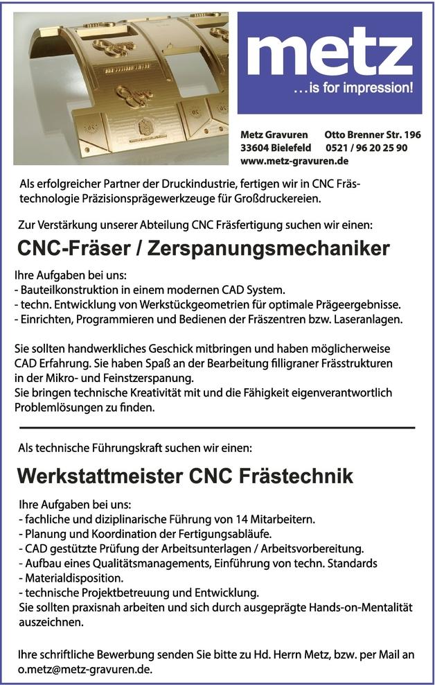 Werkstattmeister/in