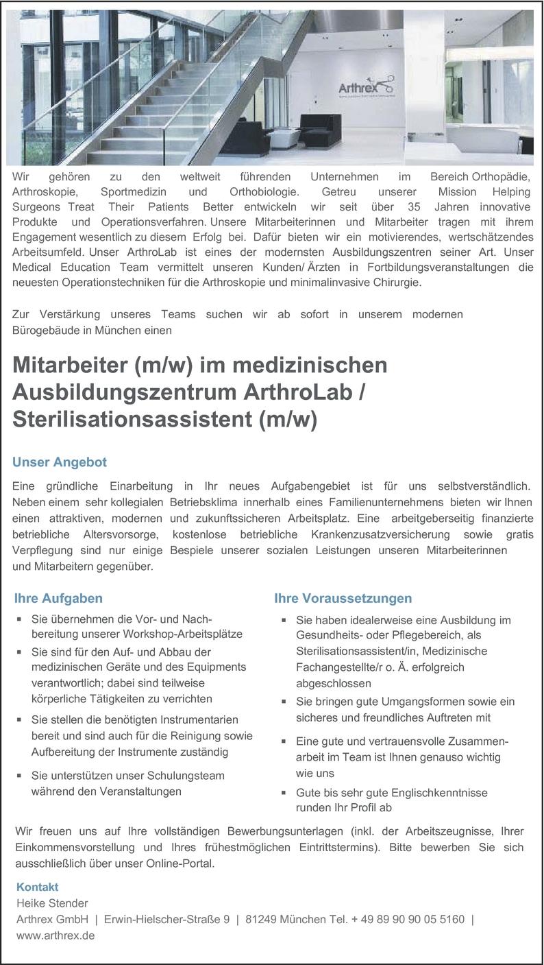 Sterilisationsassistent/in