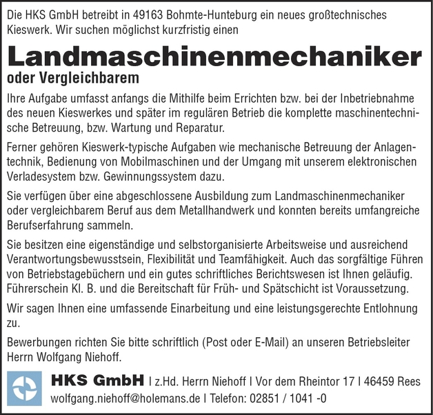 Landmaschinenmechaniker/in
