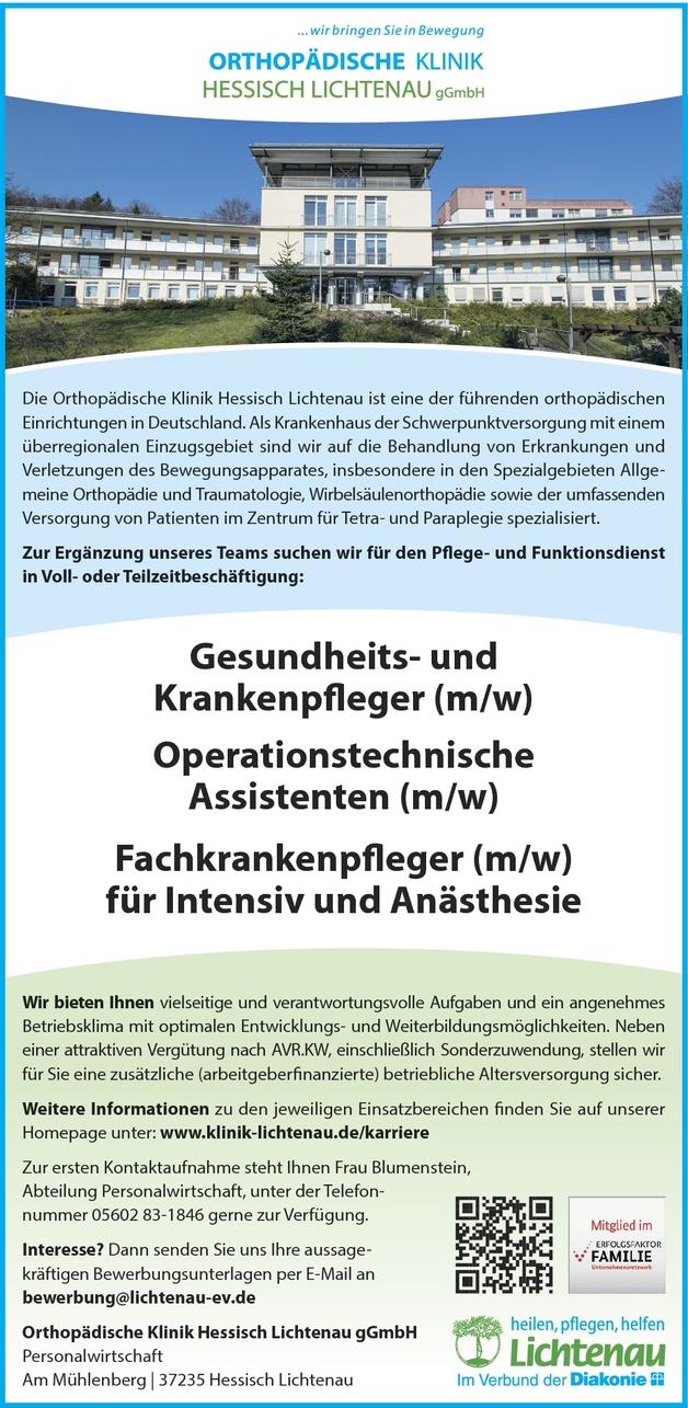 Operationstechnische/r Assistent/in