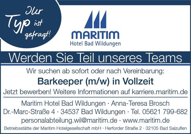 Barkeeper/in