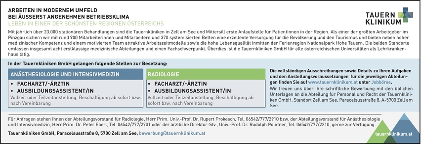 Facharzt/-ärztin Anästhesiologie