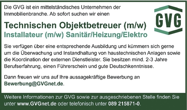 Technische/r Objektbetreuer/in