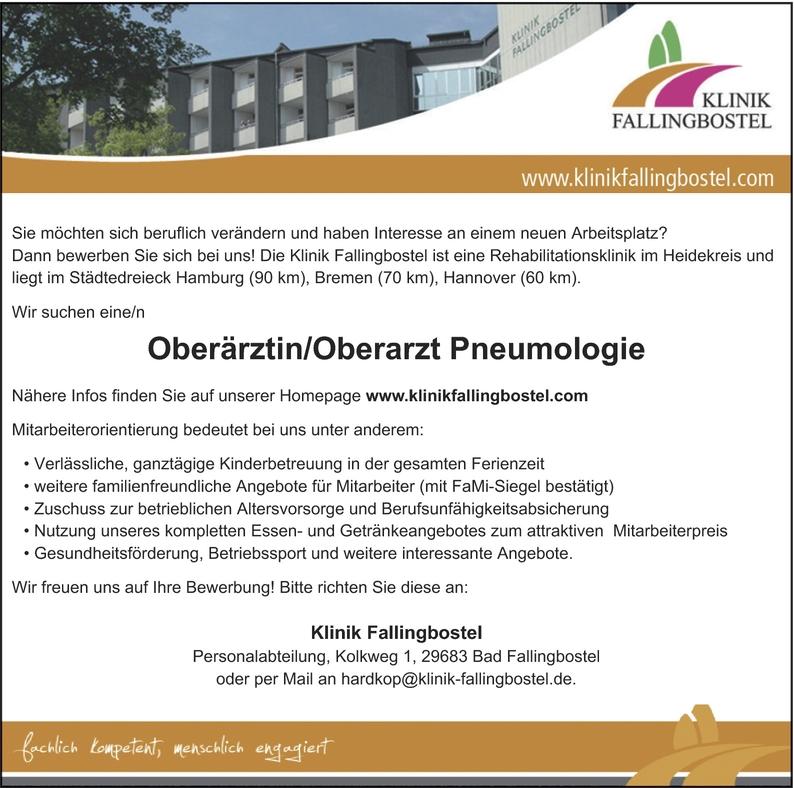 Facharzt/-ärztin Pneumologie
