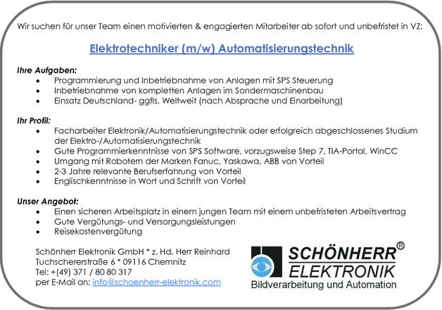 Elektrotechnikerin Automatisierungstechnik In