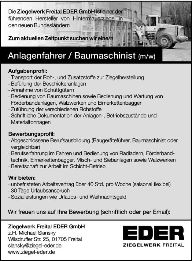 Baumaschinistin In Freital