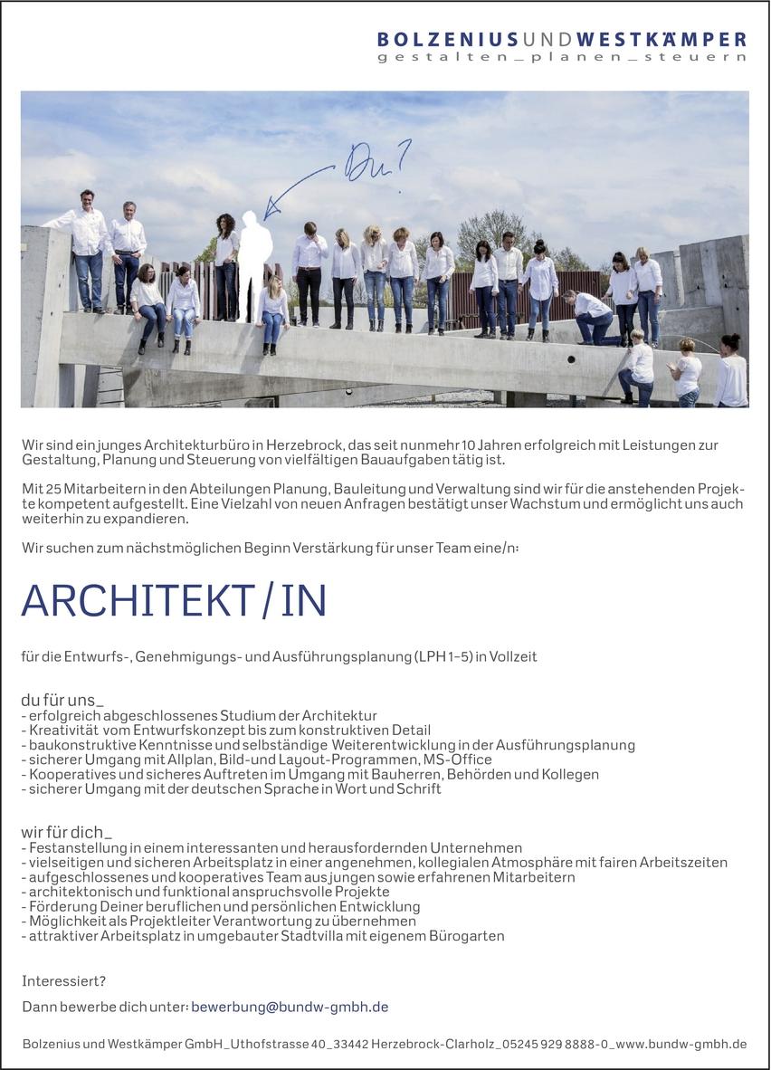 Architektin In Herzebrock Clarholz