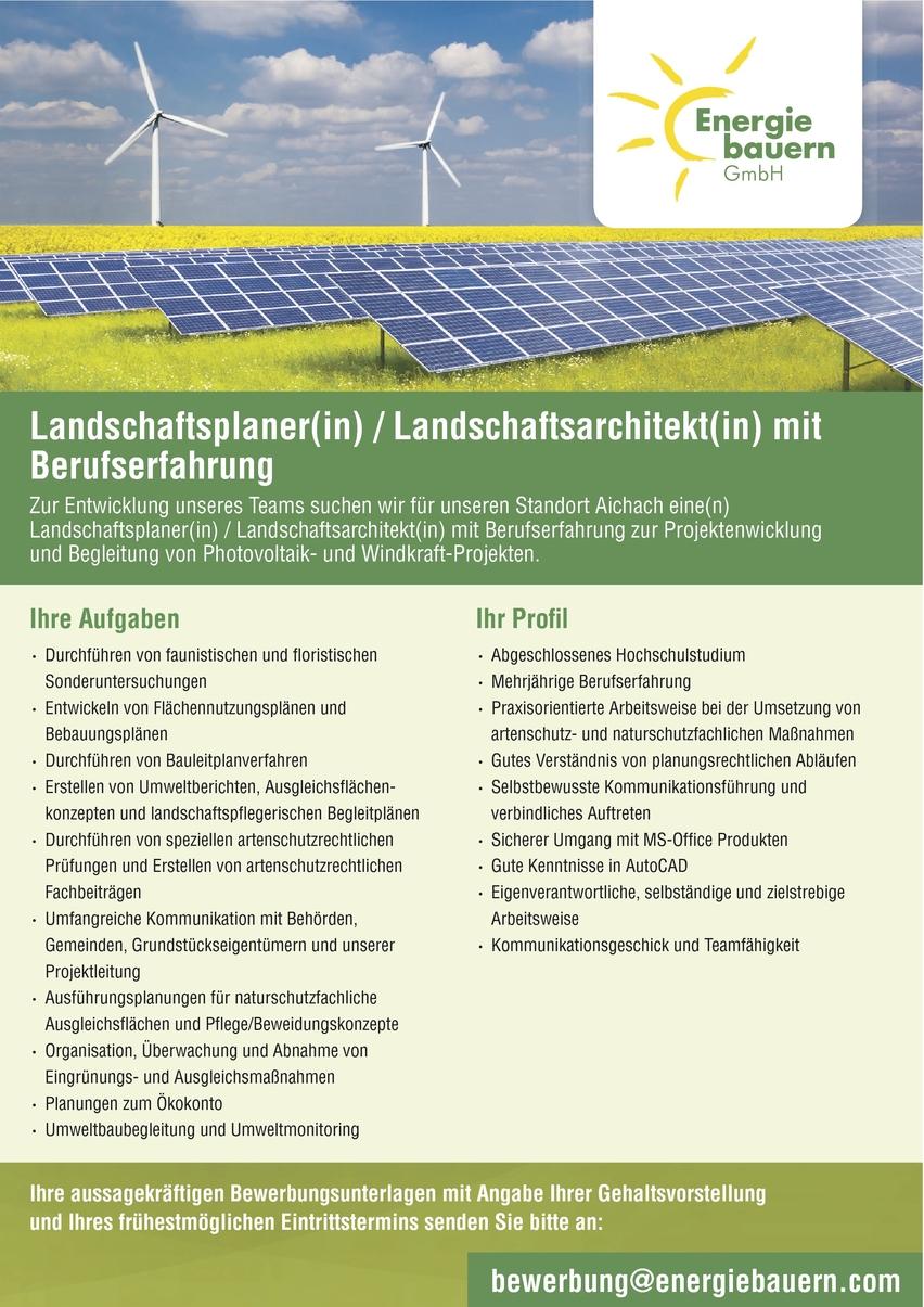 Landschaftsplanerin In Augsburg