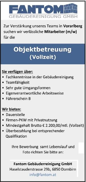 Objektleiter In Gebaudereinigung In Lindau Bodensee