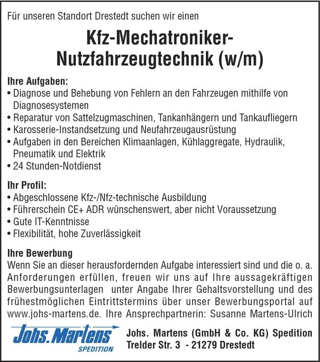Kfz Servicemechanikerin In Drestedt