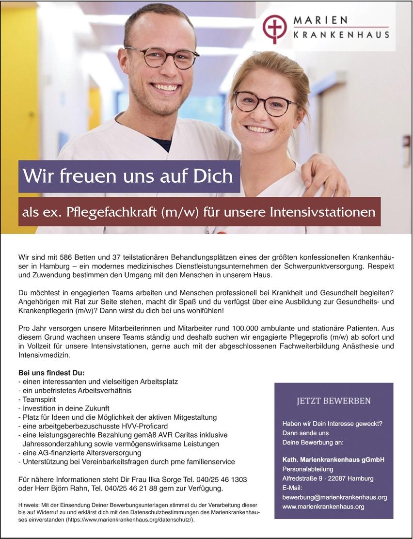 Ex Pflegekraft Mw Für Unsere Intensivstationen In Hamburg