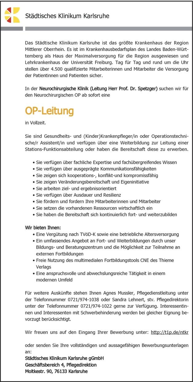 OTA (Operationstechnische/r Assistent/in)