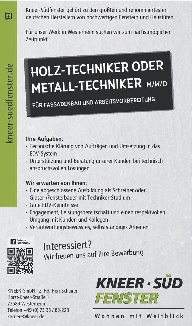 Holztechniker/in