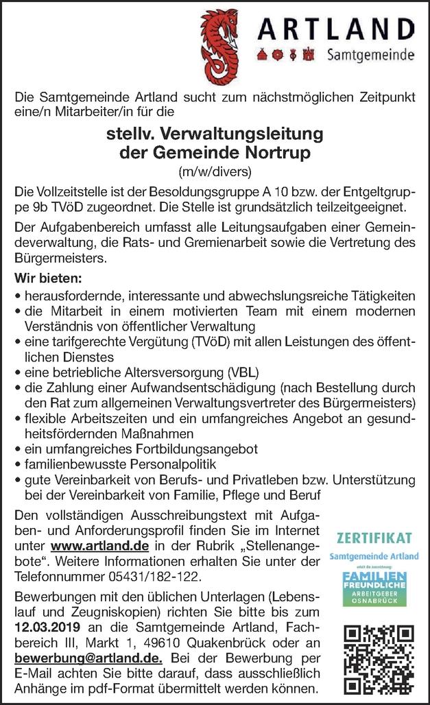 Verwaltungsleiter/in