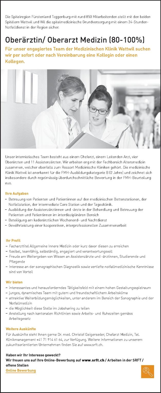 Oberarzt/in Medizin