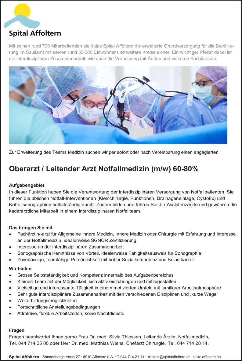 Facharzt/-ärztin - Allgemeinmedizin