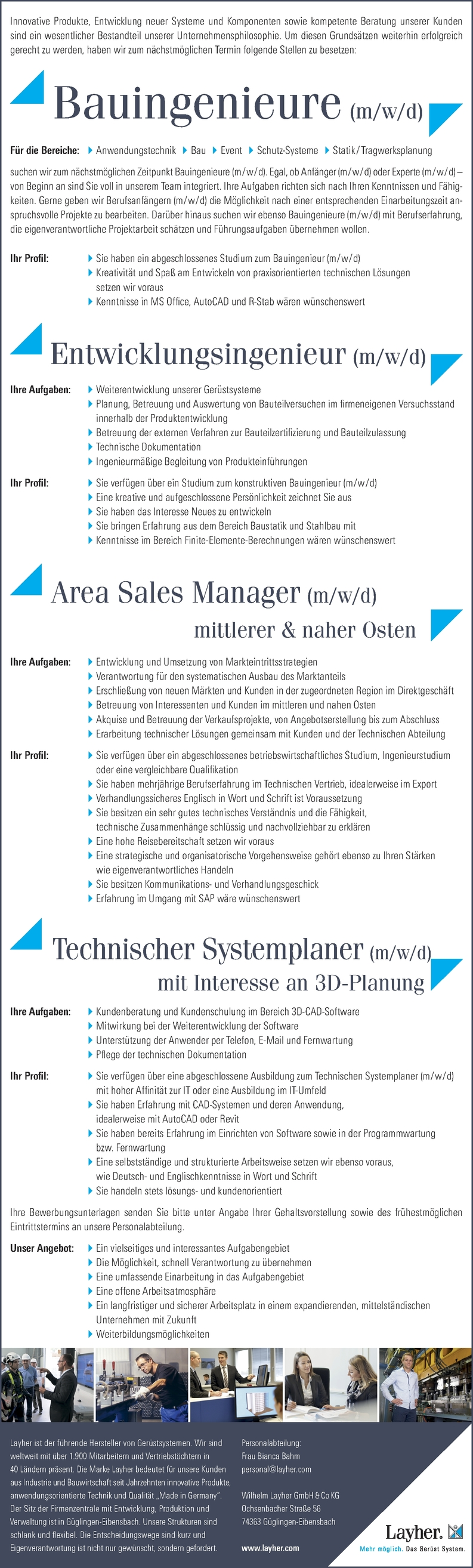 Bauingenieur/in