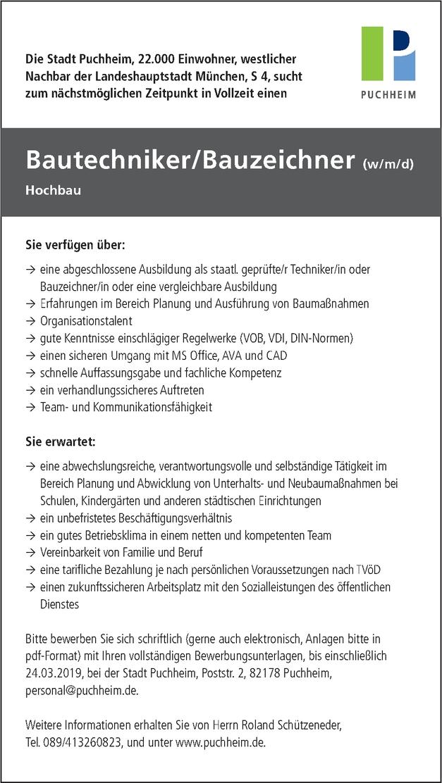 Bauzeichner/in - Architektur