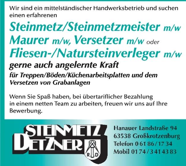 Steinmetzmeister/in