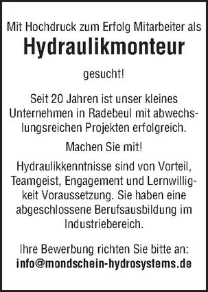 Hydrauliktechniker/in