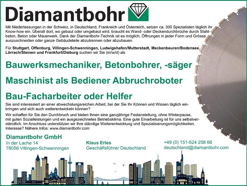 Betonbauer/in