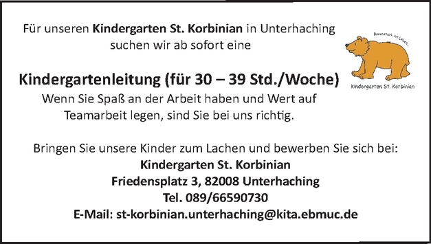 Kindergartenleiter/in