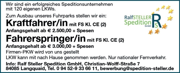 Kraftfahrer/in mit FS Kl.CE (2)