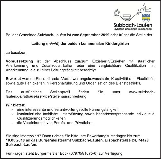 Kindergartenleitung (m/w/d)