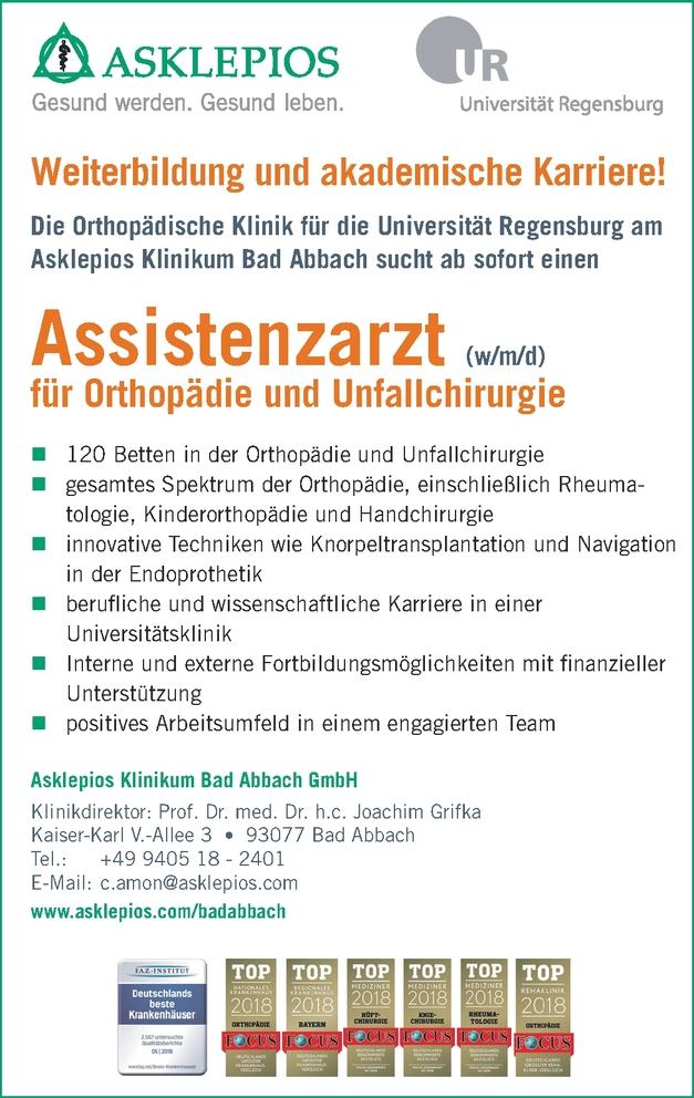 Weiterbildung zum Facharzt/-ärztin Orthophädie und Unfallchirurgie